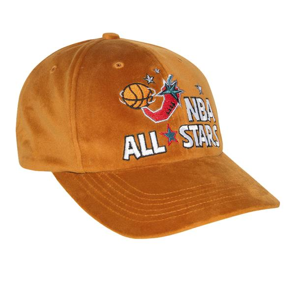 Just Don® M&N 1996 All-Stars Velvet/Lambskin Cap (Rust)