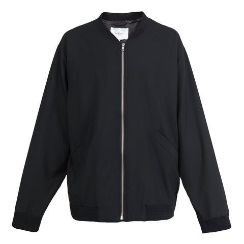Second Layer Oversized Bomber Jacket (Black)