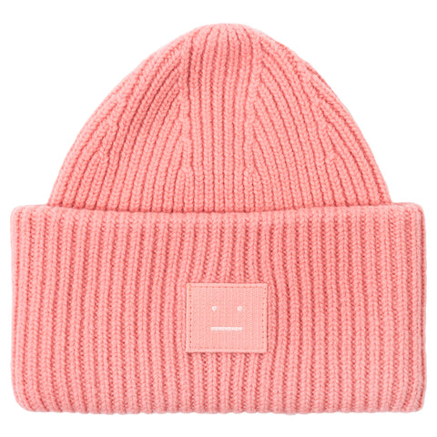 Acne Pansy Face Beanie (Pale Pink)