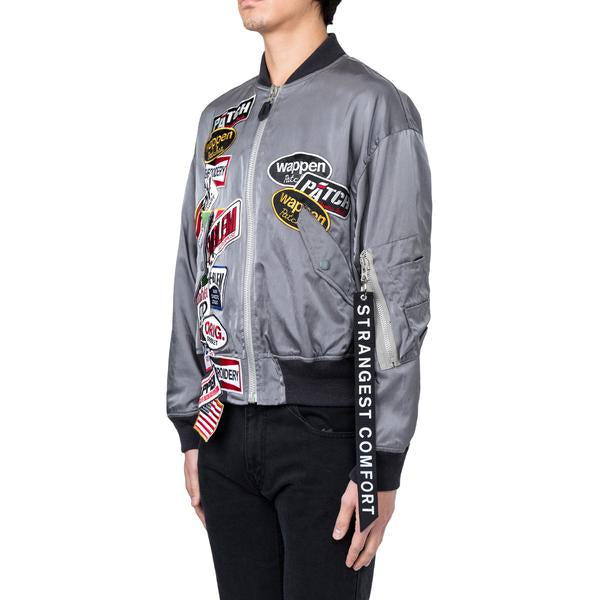 Doublet Chaos Patches Bomber Blouson (Grey)
