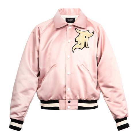 Fear Of God Satin Baseball Coaches Jacket (Blush)