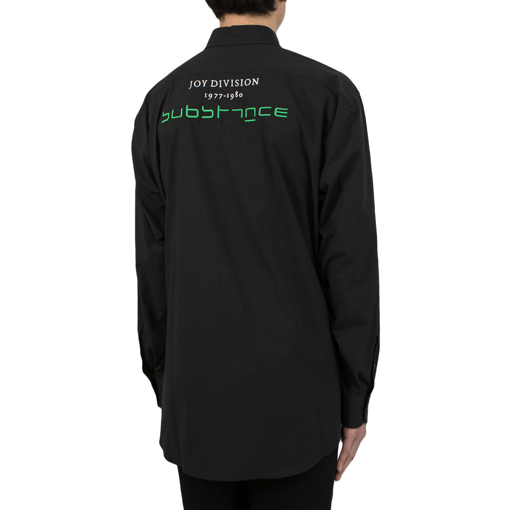 "Raf Simons Joy Division ""Substance"" Embroidery Shirt (Black)"