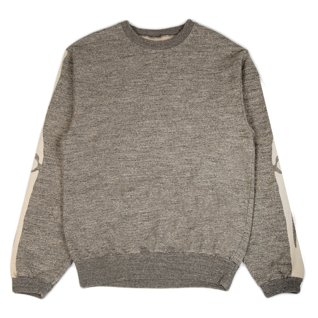 Kapital SS21 Grandrelle Fleece Knit BIG Crew Sweater, Charcoal