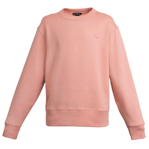 Acne Studios Fairview Face Sweatshirt (Pale Pink)
