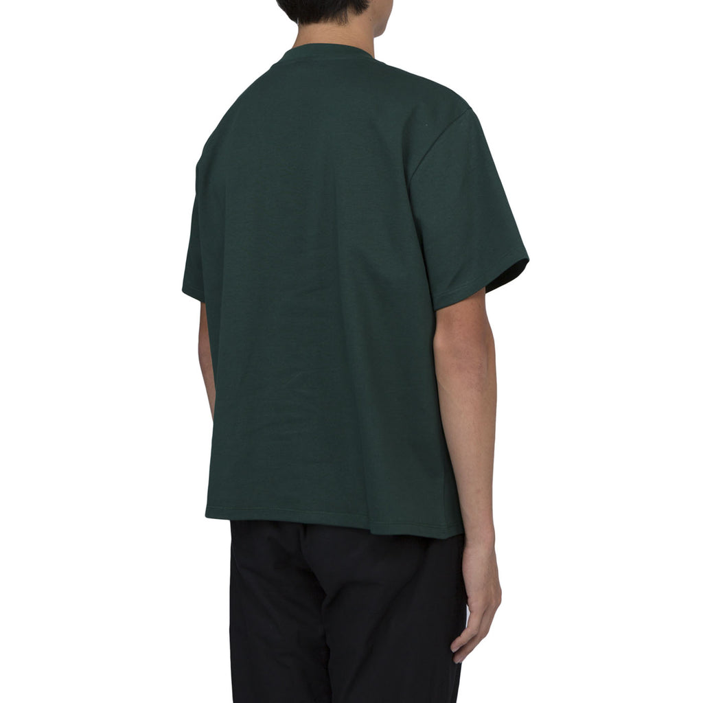Second Layer Structed Jersey Cropped T-Shirt (Dark Green)