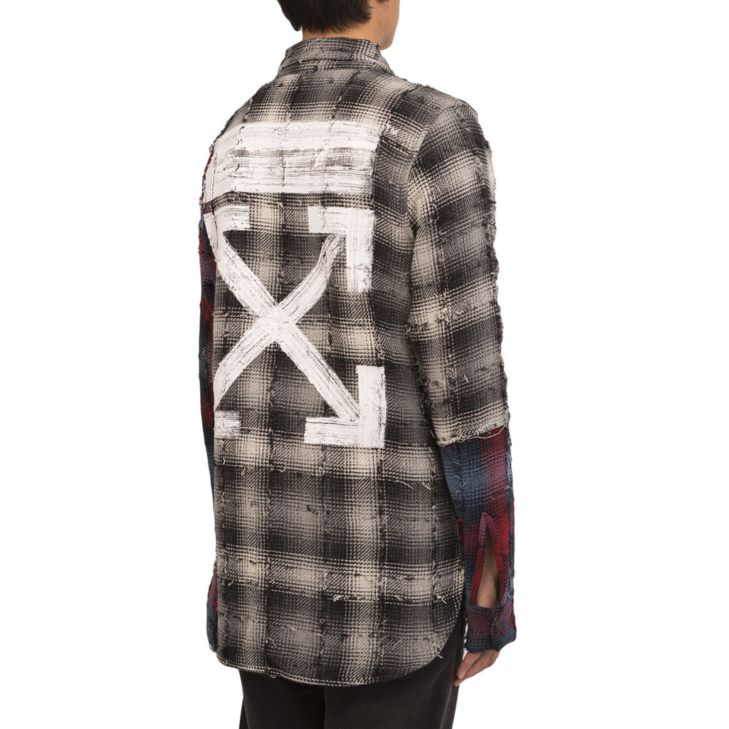 Off White Mixed Check Shirt (Black/White)