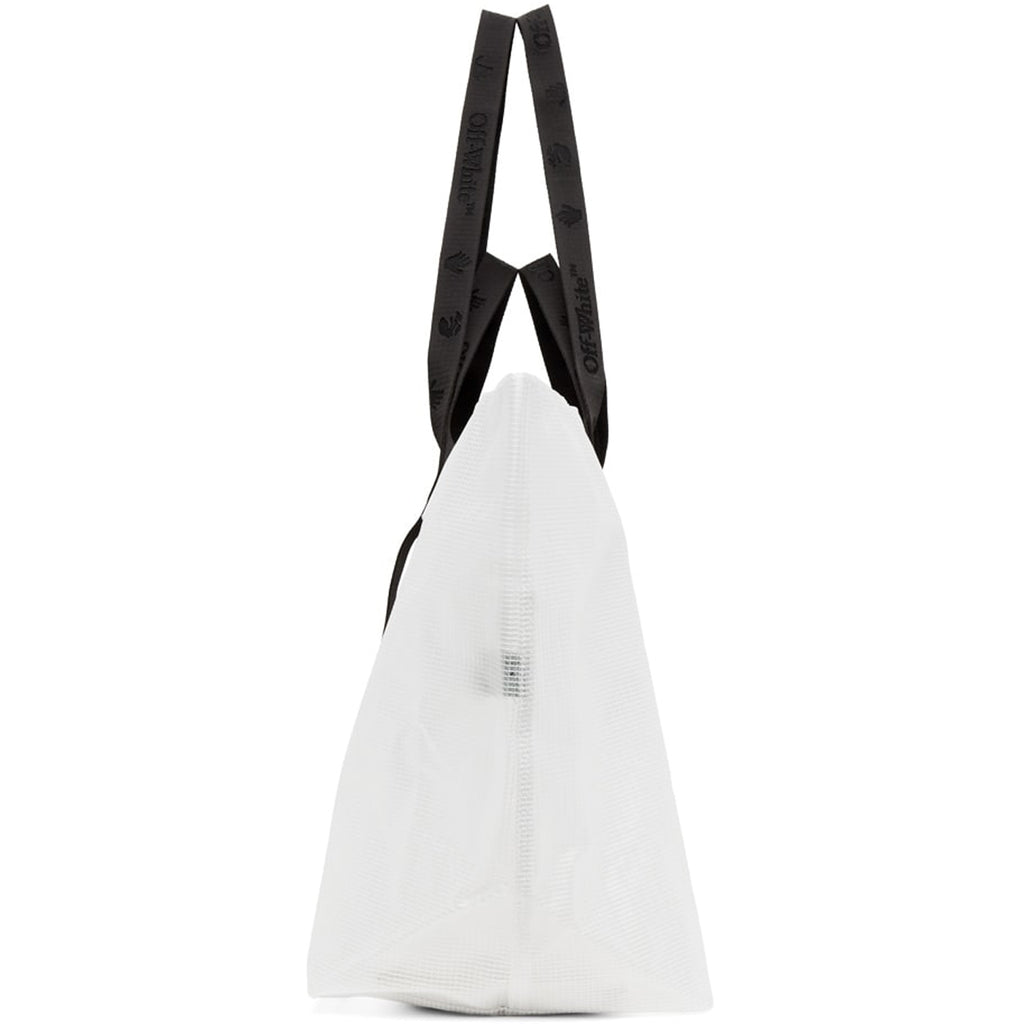 Off-White F20 OW Logo PVC Tote, White/Black
