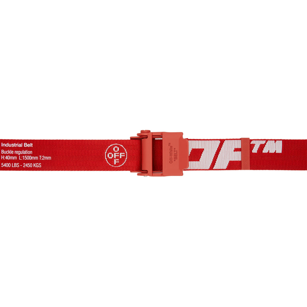 Off-White PS21 2.0 Industrial Belt, Red/White