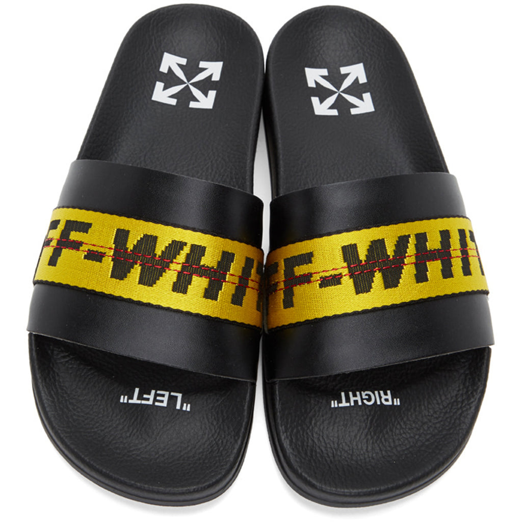 Off-White PS21 Industrial Belt Slider, Black/Yellow