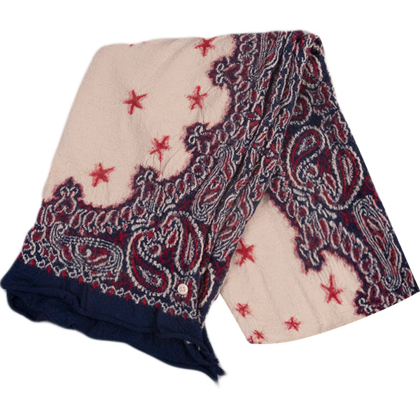 Kapital FW20 Cosmic Star Compressed Wool Scarf, Navy