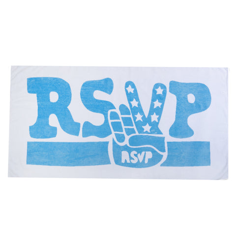 RSVP Gallery So Me Towel, White/Blue