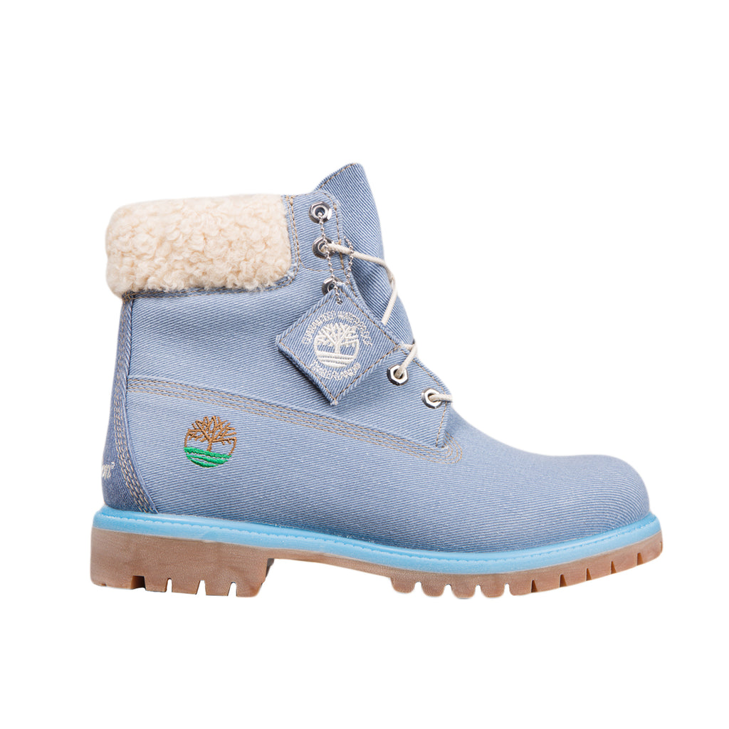 Just Don x Timberland JUNIORS 6 inch Boot, Medium Blue