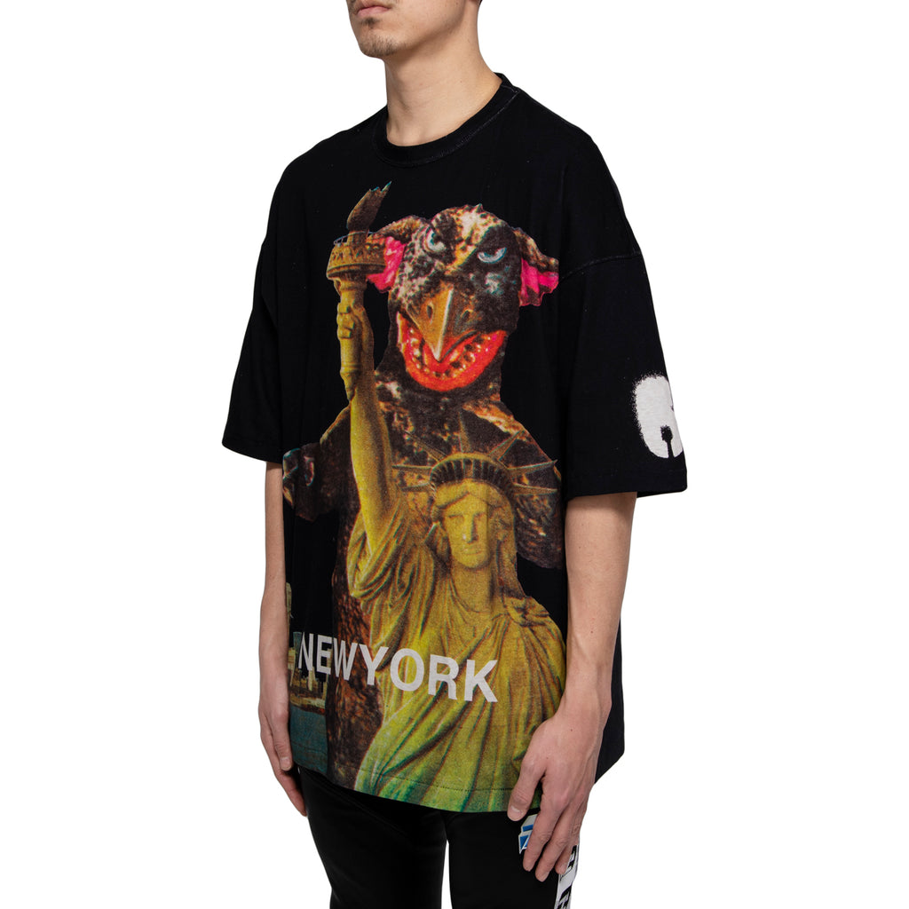 "Undercover ""New York"" Printed Tee, Black"