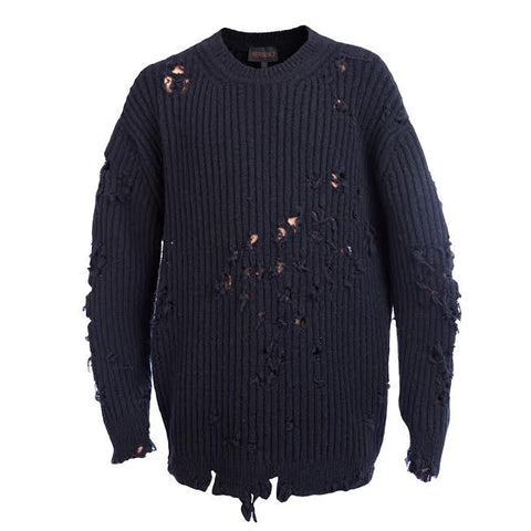 "YEEZY ""Destroyed"" Rib-Knit Sweater"