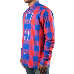 OAMC Ring Woven Shirt (Blue/Red)