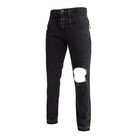 Midnight Studios Safety Pin Jeans (Black)