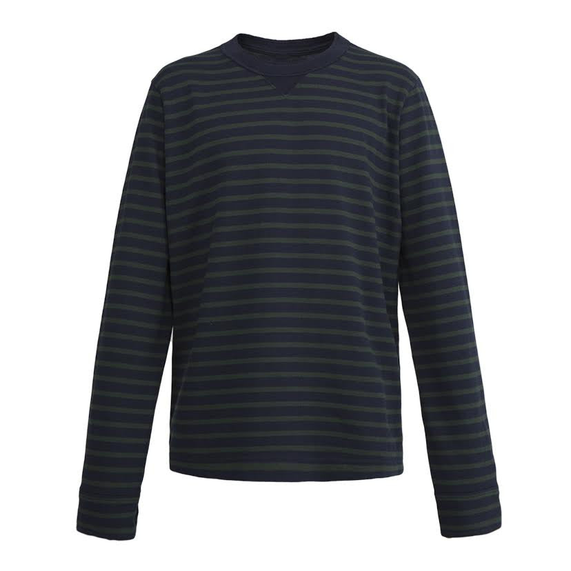 Sacai Dixie Stripe L/S Tee (Navy/Green)
