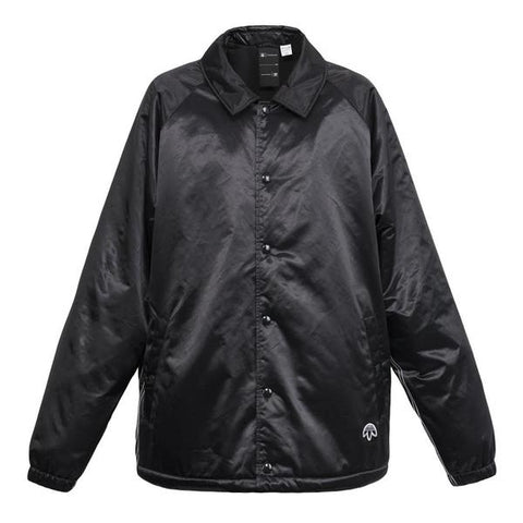 Adidas X Alexander Wang Satin Coach Jacket (Black)