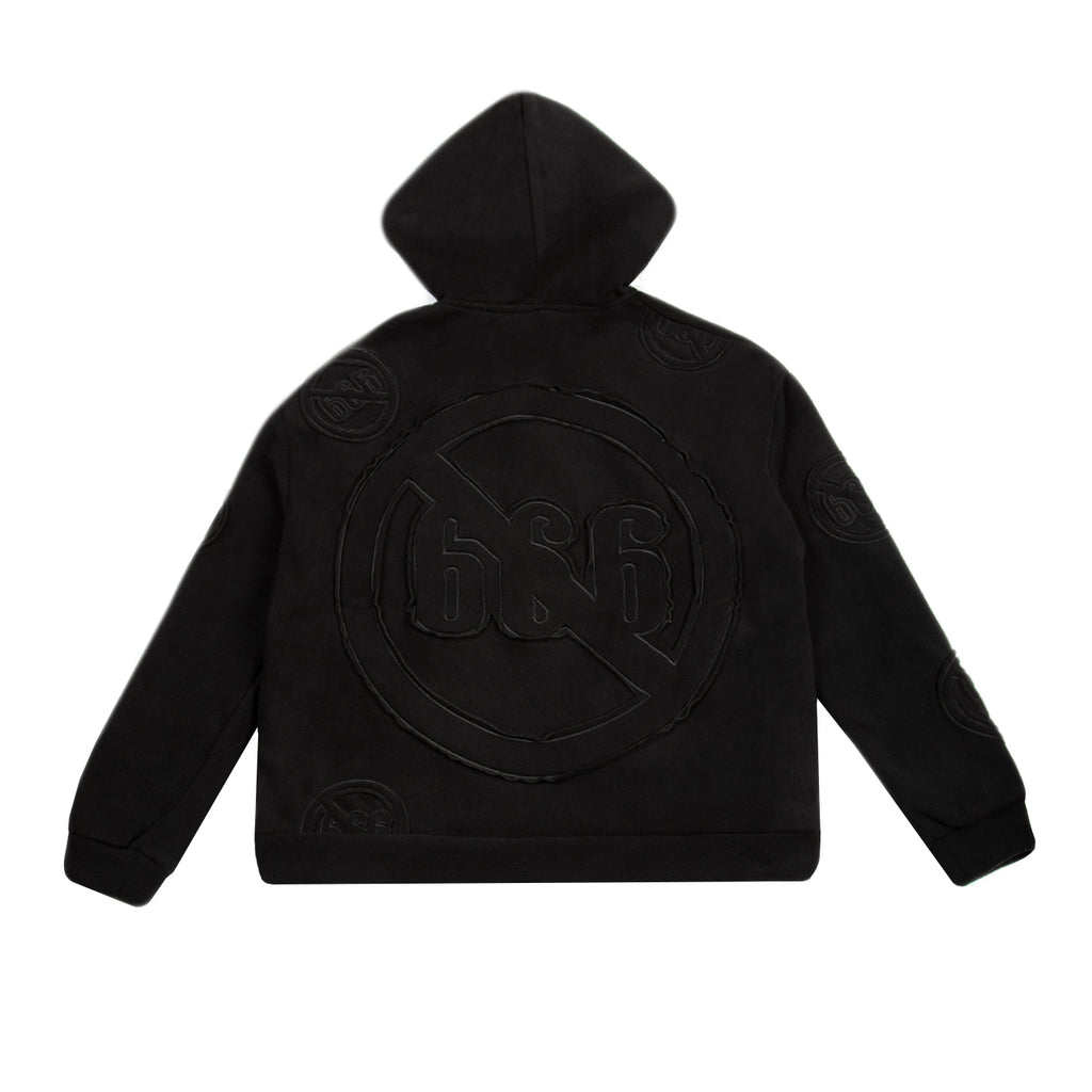 Who Decides War SS21 Anti 666 Logo Hooded Sweatshirt, Black