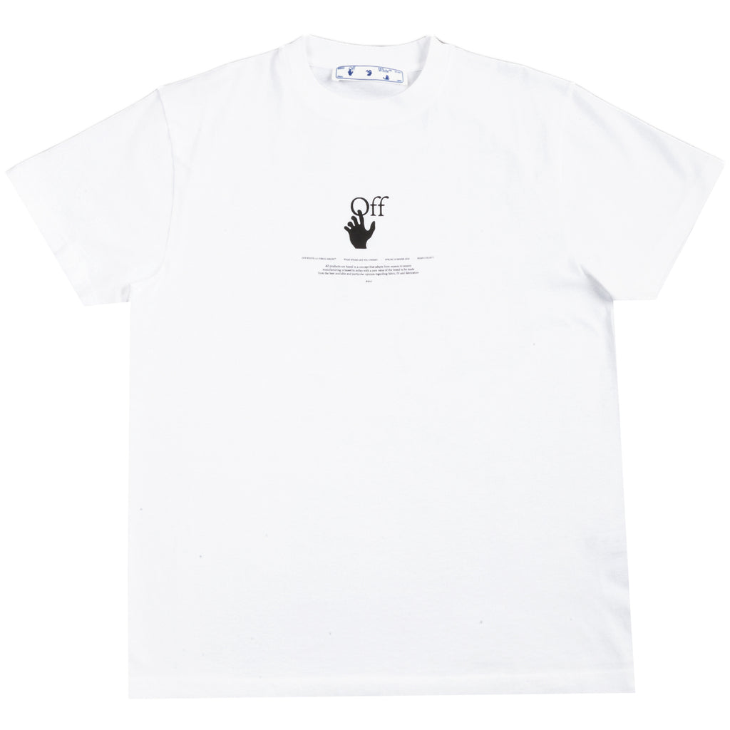 Off-White PS21 White Offf Graff S/S Over Tee, White High Rise