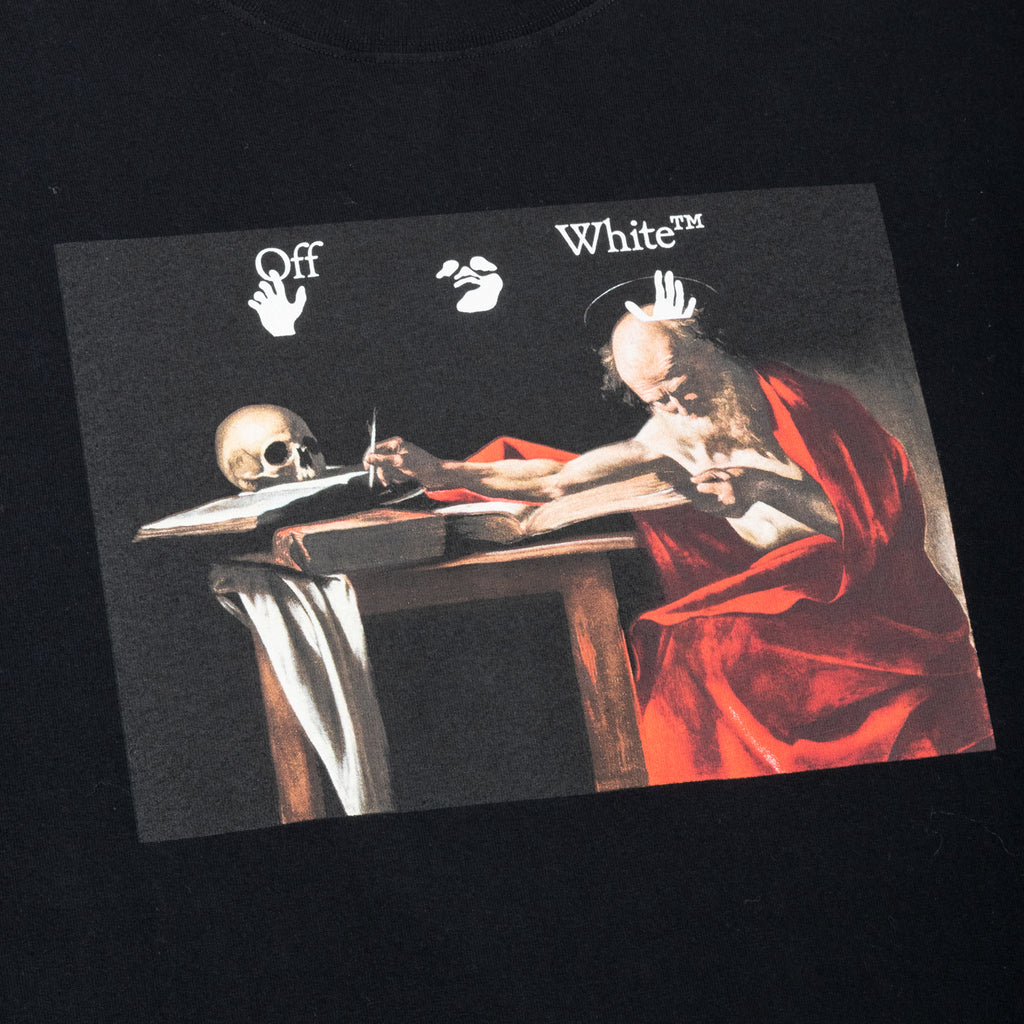 Off-White PS21 Caravaggio S/S Over Tee, Black/Red