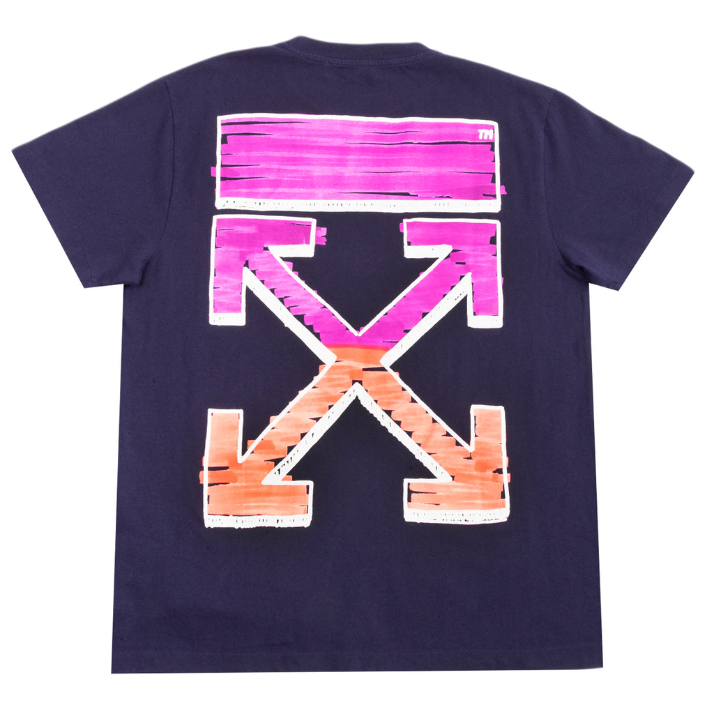 Off-White PS21 Marker S/S Over Tee, Astral Aura Fuchsia