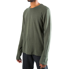 T by Alexander Wang Long Sleeve T-Shirt w/ Nylon (Green)