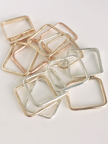 square rings different metals