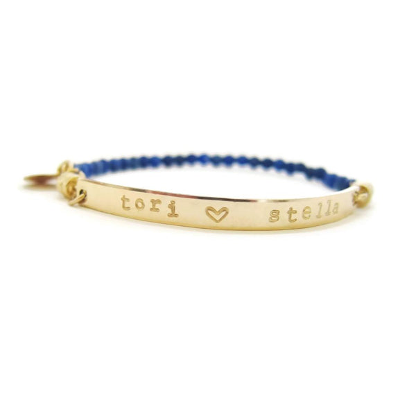 Beaded Name Bracelet with interchangeable band-Interchangeable Bracelets-The Modern Bazaar