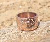 Hand Stamped Rose Gold Inspirational Ring