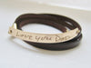 Leather Wrap Handwriting Bracelet