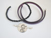 Handwriting Disc Bracelet with beaded interchangeable band