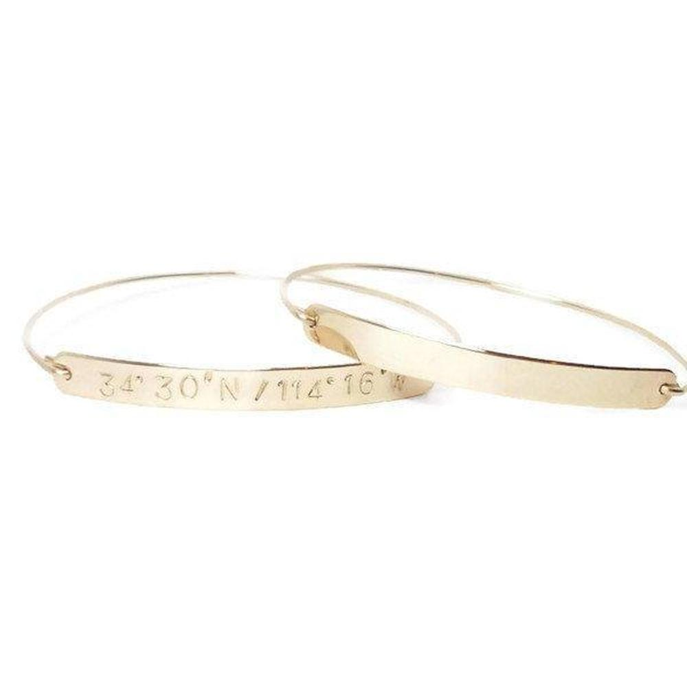 Coordinate Bangle Bracelet-The Modern Bazaar