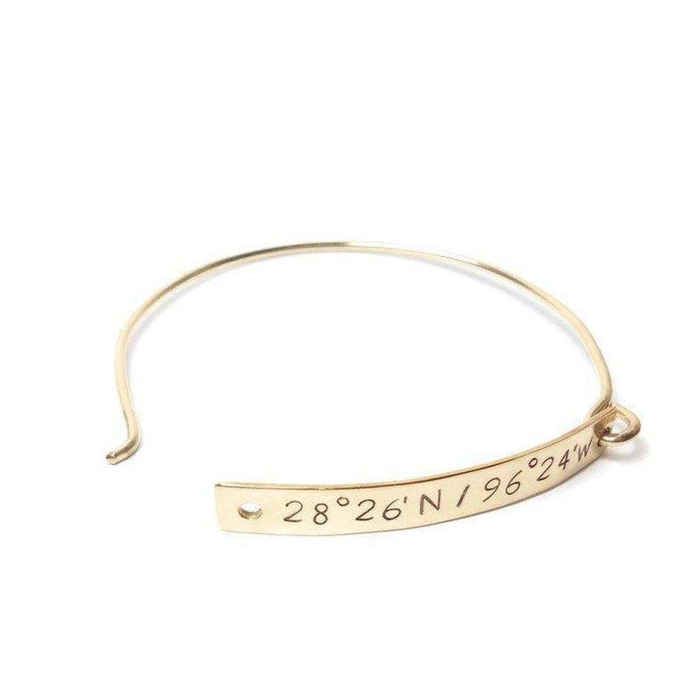 grande engraved bracelet custom location coordinate longitude products latitude