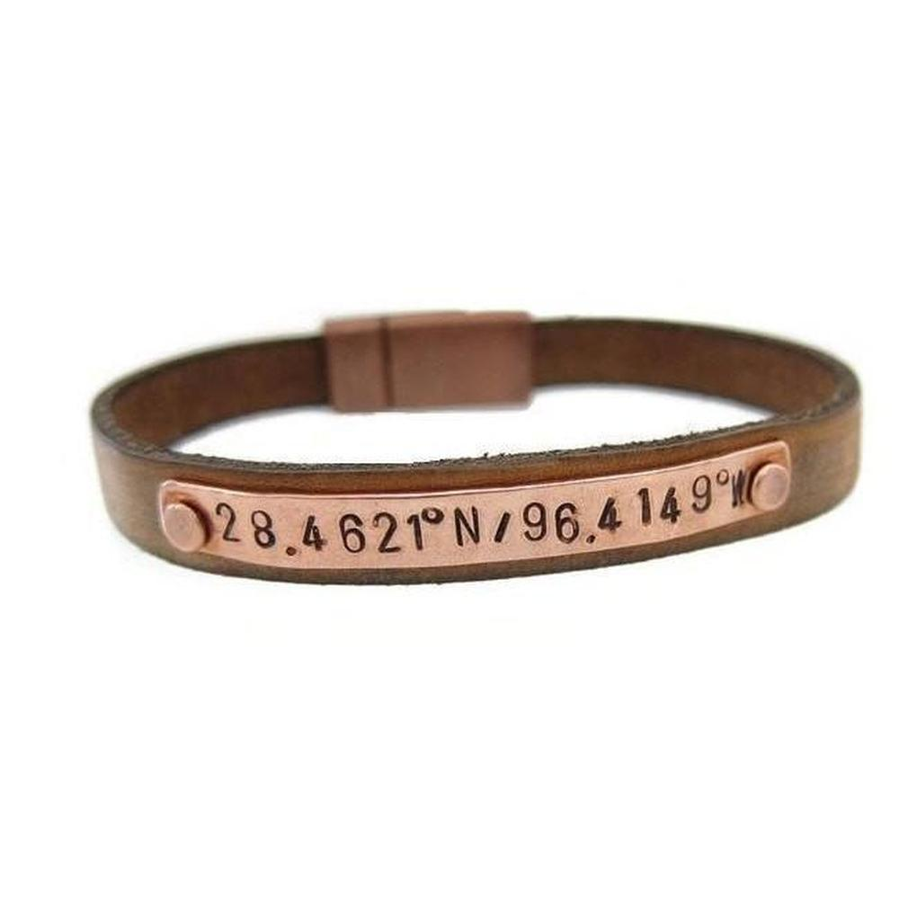 gift coordinates latitude bracelet coordinate bangle gps silver custom jewelry longitude