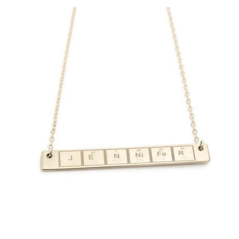 Periodic table necklace the modern bazaar periodic table necklace urtaz Images