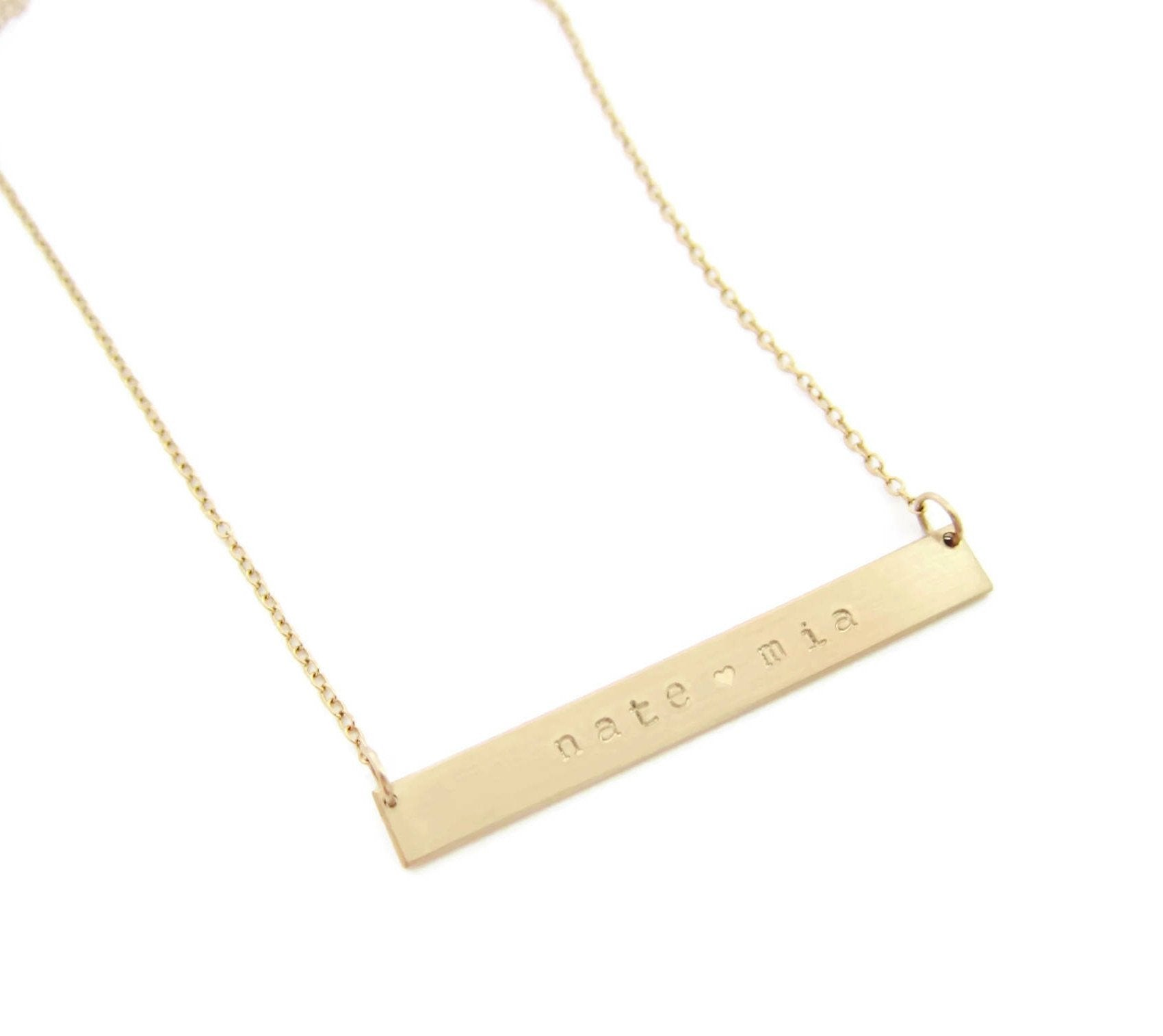 name products mens be block necklace monogrammed jewellery