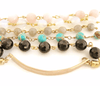 Rosary-style Beaded Handwriting Bracelet with interchangeable band