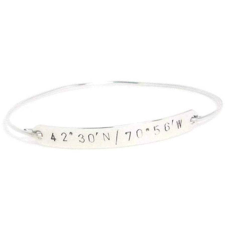 cuff product bracelet jewelry sterling details silver anticlastic on latitude longitude