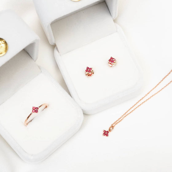 RUBY FLORA NECKLACE