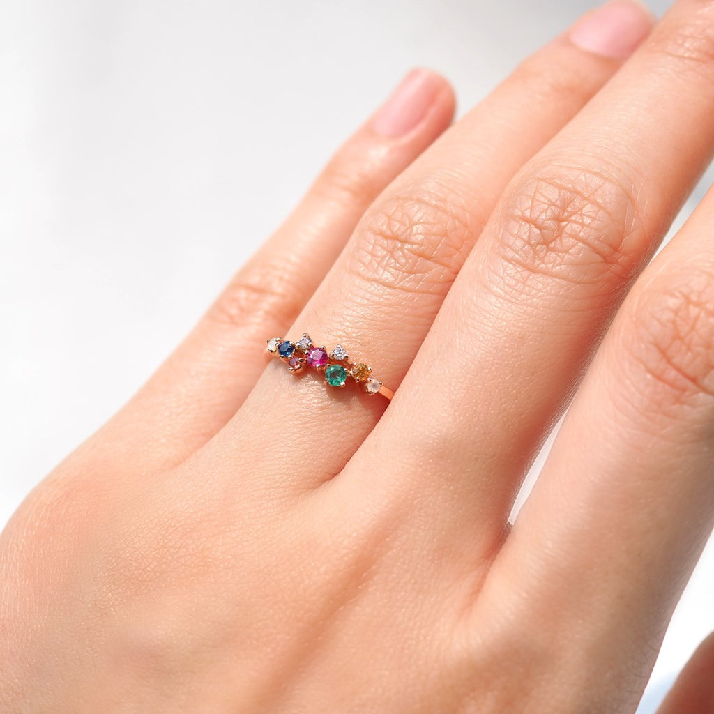 MILKY WAY NINE GEMS RING
