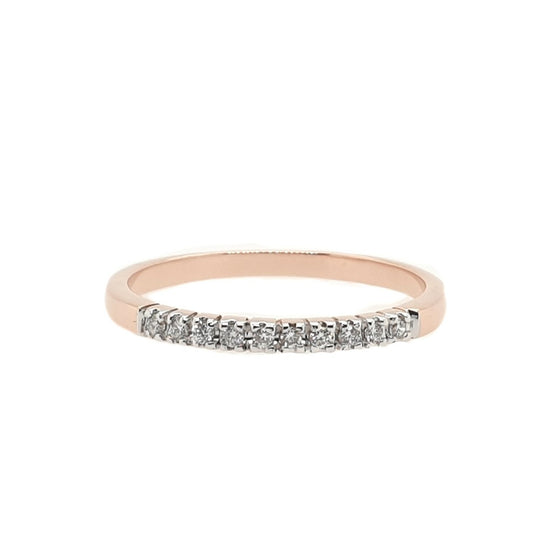 DIAMOND HALF BAND RING: 0.08 ct.tw.