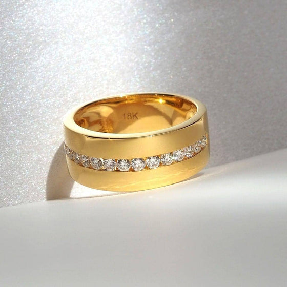 8MM. DIAMOND BAND RING