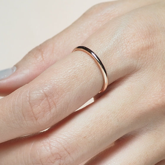 1.6 MM. FULL ROUND BAND RING