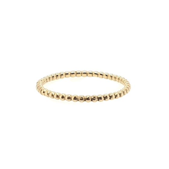 (GOLD RINGS) BEADED RING (1 mm.)