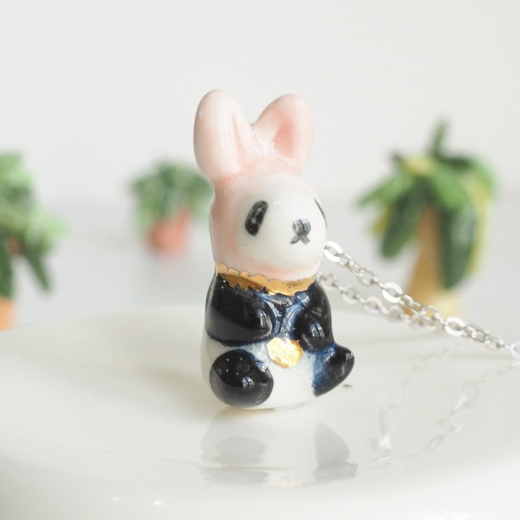 The Baby Panda Bunny Necklace