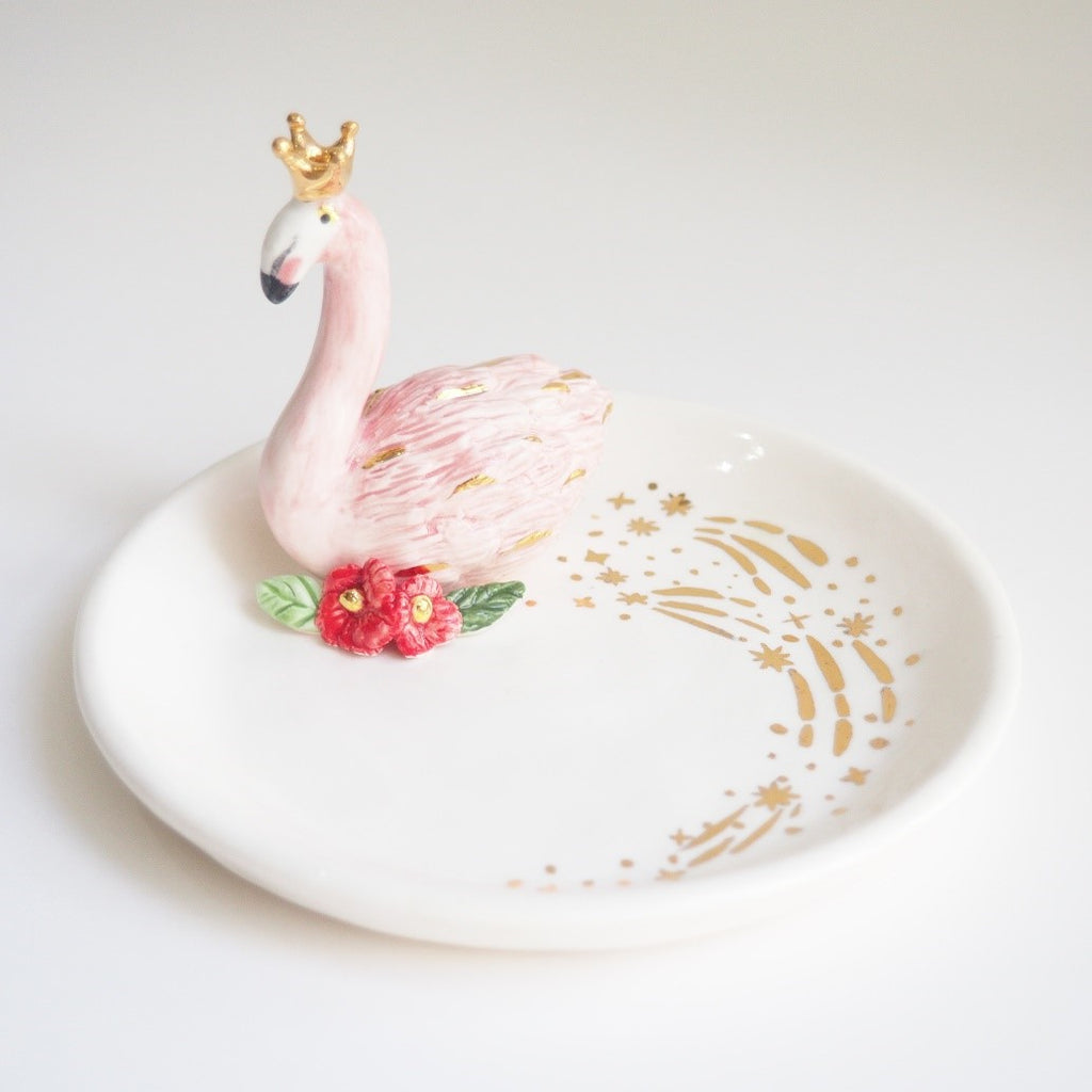 The King of Flamingo Jewelry Dish