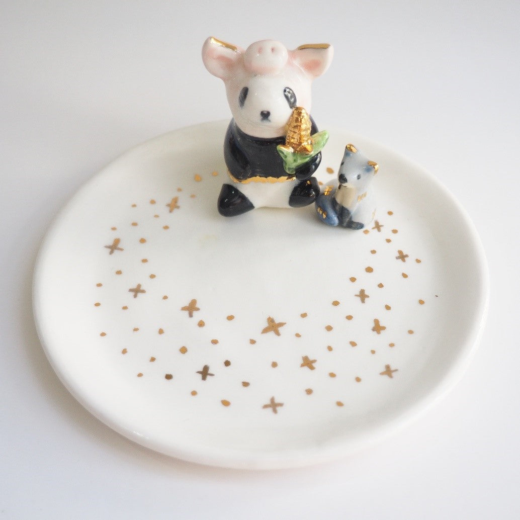The Panda Pig Jewelry Dish