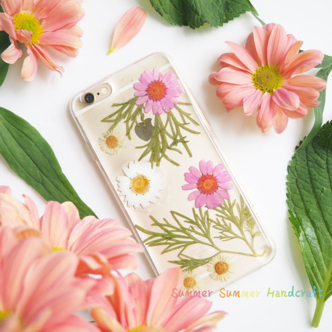 The Daisy Bush Handmade Pressed Flower Phone Caseiphone 66s