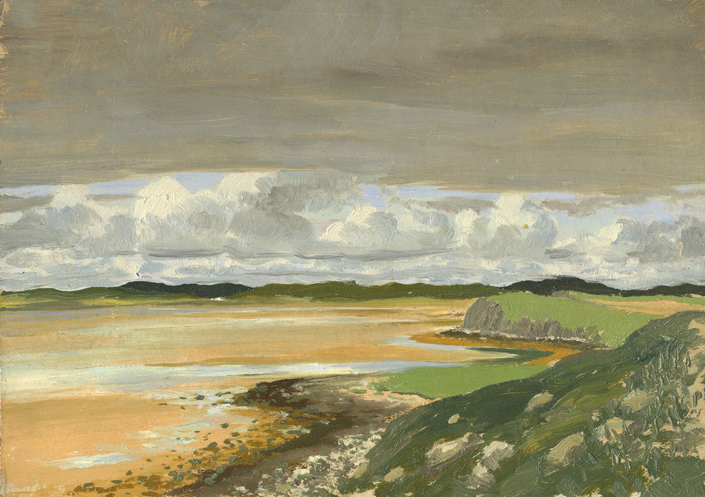 Myles Tonks, Low Tide - Original early 20th-century oil painting